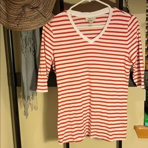 Faconnable striped tee